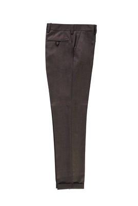 Erkek Giyim - AÇIK KAHVE 54 Beden Desenli Klasik Pantolon