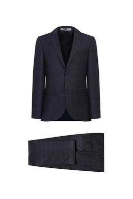 Erkek Giyim - MARENGO 52 Beden Ekose Klasik Takım Elbise