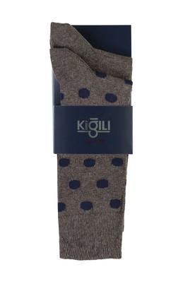 Erkek Giyim - AÇIK KAHVE 39-41 Beden 2'li Desenli Çorap