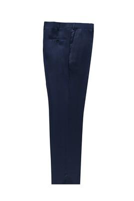 Erkek Giyim - KOYU MAVİ 60 Beden Kuşgözü Klasik Yünlü Pantolon