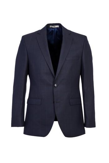 Erkek Giyim - Yünlü Kareli Klasik Takım Elbise