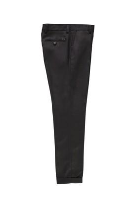 Erkek Giyim - KOYU KAHVE 50 Beden Desenli Klasik Pantolon