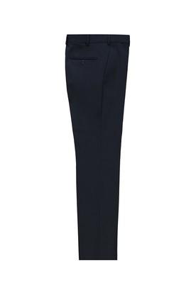 Erkek Giyim - KOYU LACİVERT 52 Beden Yünlü Slim Fit Klasik Pantolon