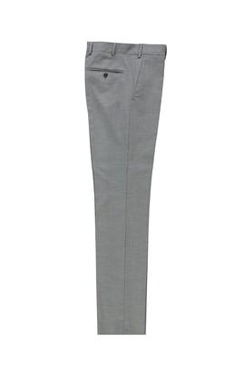 Erkek Giyim - AÇIK GRİ 50 Beden Slim Fit Yünlü Klasik Pantolon