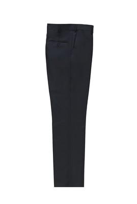 Erkek Giyim - KOYU LACİVERT 54 Beden Slim Fit Yünlü Klasik Pantolon