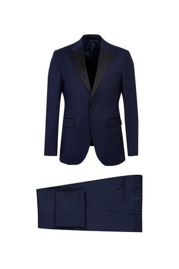 Erkek Giyim - Sivri Yaka Kuşgözü Slim Fit Smokin & Damatlık