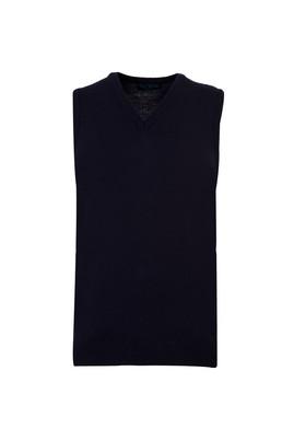 Erkek Giyim - ORTA LACİVERT L Beden V Yaka Regular Fit Süveter