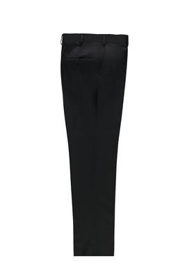 Erkek Giyim - SİYAH LACİVERT 54 Beden Kuşgözü Klasik Yünlü Pantolon