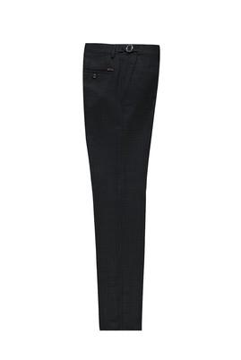 Erkek Giyim - MARENGO 50 Beden Slim Fit Tokalı Pileli Kuşgözü Klasik Pantolon