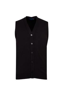 Erkek Giyim - SİYAH M Beden Düğmeli Yelek
