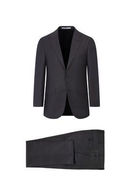 Erkek Giyim - KOYU KAHVE 60 Beden Yünlü Klasik Takım Elbise