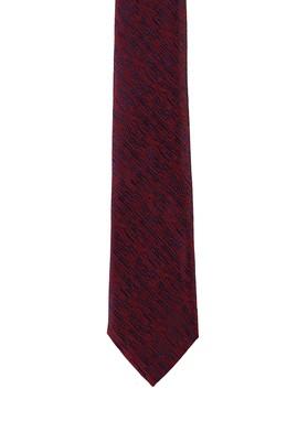 Erkek Giyim - KOYU KIRMIZI 165 Beden Desenli Kravat