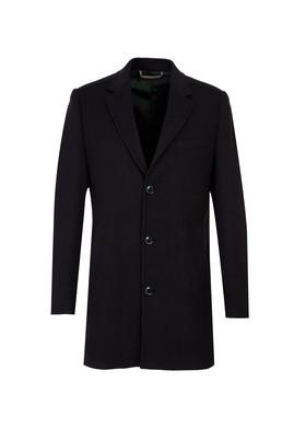 Erkek Giyim - SİYAH 50 Beden Mono Yaka Kaban