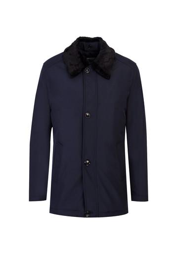 Erkek Giyim - Kürk Yaka Kaban
