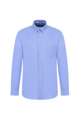 Erkek Giyim - MAVİ XL Beden Uzun Kol Oxford Klasik Gömlek