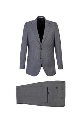 Erkek Giyim - AÇIK GRİ 62 Beden Kuşgözü Klasik Takım Elbise