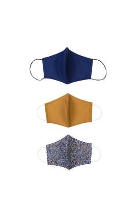 Erkek Giyim - HARDAL  Beden Yıkanabilir 3'lü Yüz Maskesi