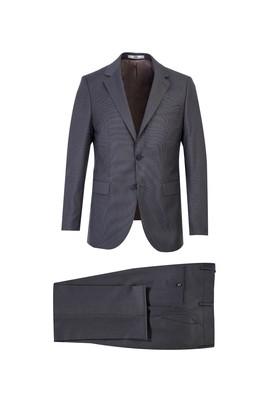 Erkek Giyim - ORTA GRİ 52 Beden Kuşgözü Klasik Takım Elbise