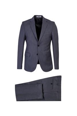 Erkek Giyim - ORTA GRİ 52 Beden Slim Fit Kuşgözü Takım Elbise
