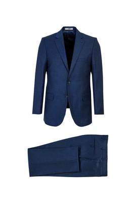 Erkek Giyim - ORTA LACİVERT 50 Beden Klasik Takım Elbise