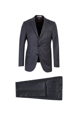 Erkek Giyim - KOYU FÜME 52 Beden Kuşgözü Klasik Takım Elbise