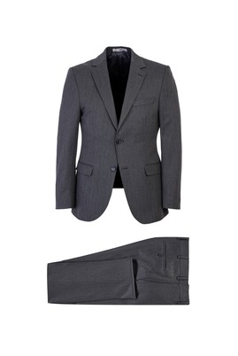 Erkek Giyim - ORTA GRİ 54 Beden Slim Fit Takım Elbise