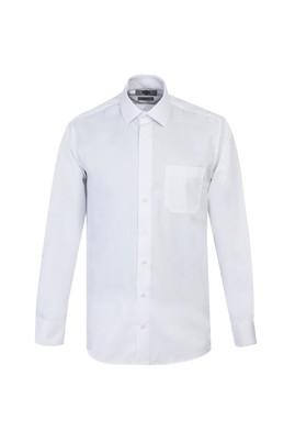 Erkek Giyim - BEYAZ L Beden Uzun Kol Non Iron Klasik Gömlek