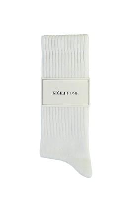 Erkek Giyim - BEYAZ 40-44 Beden Spor Soket Çorap