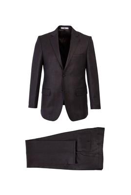 Erkek Giyim - KOYU KAHVE 60 Beden Klasik Takım Elbise