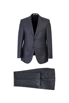 Erkek Giyim - ORTA GRİ 48 Beden Ekose Klasik Takım Elbise