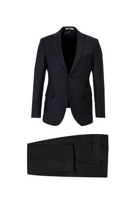 Erkek Giyim - SİYAH 46 Beden Yünlü Slim Fit Takım Elbise