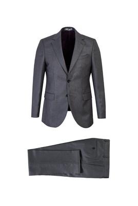 Erkek Giyim - ORTA GRİ 58 Beden Kuşgözü Klasik Takım Elbise