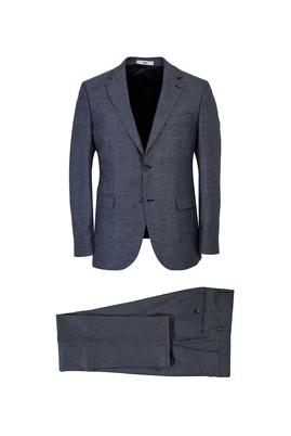 Erkek Giyim - AÇIK GRİ 52 Beden Kuşgözü Slim Fit Takım Elbise