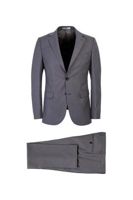 Erkek Giyim - AÇIK GRİ 44 Beden Slim Fit Kuşgözü Takım Elbise