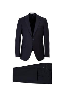 Erkek Giyim - SİYAH LACİVERT 48 Beden Yünlü Klasik Takım Elbise