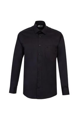 Erkek Giyim - SİYAH 4X Beden Uzun Kol Non Iron Klasik Gömlek