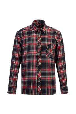 Erkek Giyim - AÇIK KIRMIZI L Beden Uzun Kol Ekose Oduncu Gömlek