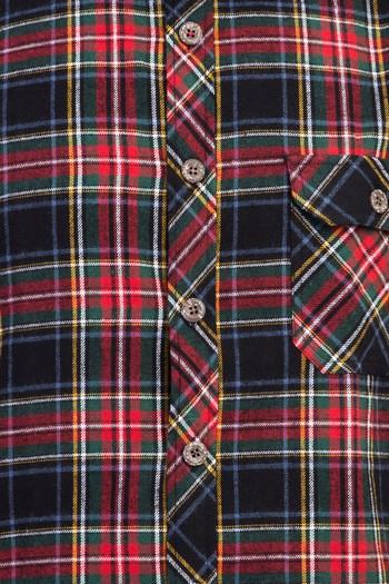 Erkek Giyim - Uzun Kol Ekose Oduncu Gömlek