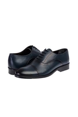 Erkek Giyim - ORTA LACİVERT 42 Beden Bağcıklı Klasik Ayakkabı