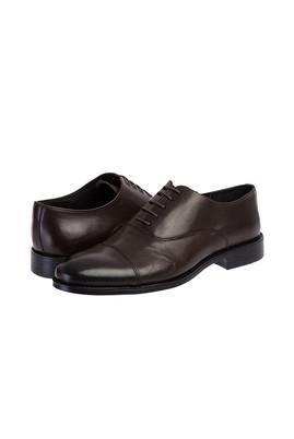 Erkek Giyim - KOYU KAHVE 41 Beden Bağcıklı Klasik Ayakkabı