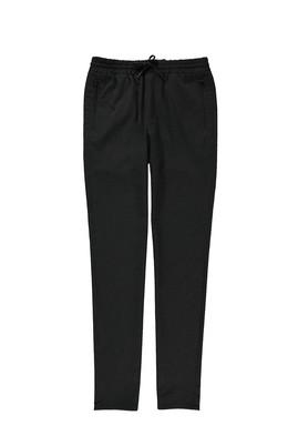 Erkek Giyim - SİYAH 48 Beden Slim Fit Bağcıklı Spor Pantolon