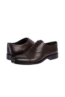 Erkek Giyim - KOYU KAHVE 42 Beden Bağcıklı Klasik Ayakkabı