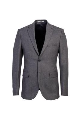 Erkek Giyim - ORTA GRİ 46 Beden Slim Fit Desenli Ceket
