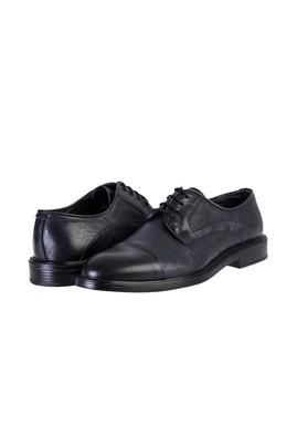 Erkek Giyim - LACİVERT 45 Beden Bağcıklı Klasik Ayakkabı
