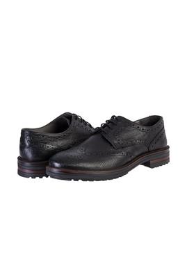 Erkek Giyim - SİYAH 42 Beden Bağcıklı Klasik Ayakkabı