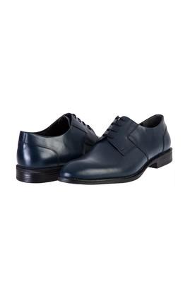 Erkek Giyim - KOYU LACİVERT 45 Beden Bağcıklı Klasik Ayakkabı