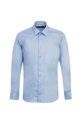 Erkek Giyim - UÇUK MAVİ XL Beden Uzun Kol Slim Fit Non Iron Gömlek