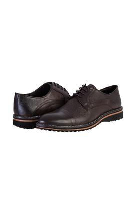 Erkek Giyim - KOYU KAHVE 42 Beden Spor Deri Ayakkabı