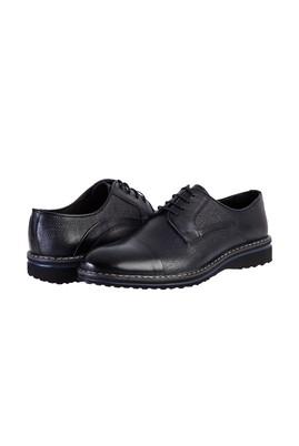 Erkek Giyim - KOYU LACİVERT 42 Beden Spor Deri Ayakkabı