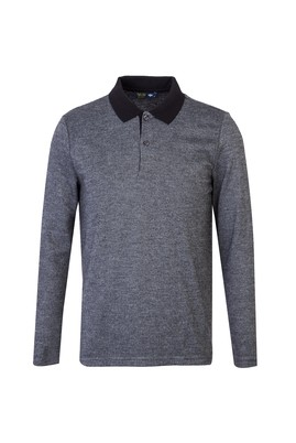 Erkek Giyim - SİYAH M Beden Polo Yaka Sweatshirt